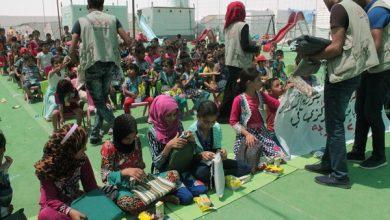 Photo of جمعية الامل توزع مساعدات في مخيمات عامرية الفلوجة لأكثر من 2457 عائلة وطفل