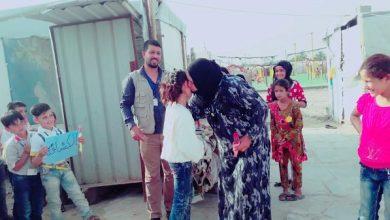 Photo of رسائل محبة وسلام من الأطفال في مخيم التكية الكسنزانية